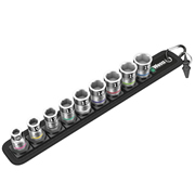 "Wera 5003970001 Zyklop Belt B 1 3/8"" Metric Bolt Holding Socket 10 Piece Set"