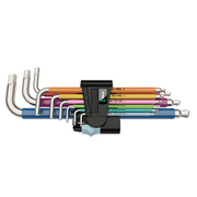 Wera 5022669001 3950SPKL/9SM Hex Key 1.5-10mm Multicolour Stainless 9 Piece Set