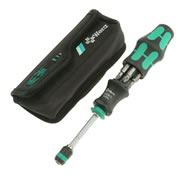 Wera 051021 Kraftform Kompakt 20 Bit Holding Screwdriver with Pouch