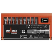 Wera 057684 WERA 25mm Impaktor 10 Piece Diamond Screwdriver PZ Bit Set