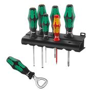 Wera 105600SET Kraftform Plus 6 Piece Screwdriver Set & Bottle Opener