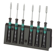 Wera 118158 Kraftform 2069/6 Nutspinner Set Micro 6 Piece Screwdriver Set