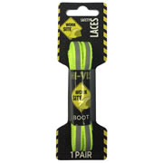 Work Site 350702 Flo Yellow 150cm Flat Reflective Laces