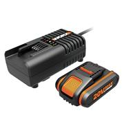 Worx WA3601 20V MAX 2Ah Li-ion Battery & Charger Pack