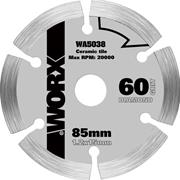Worx WA5038 WORXSAW 85mm Compact Circular Saw Diamond Blade