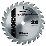 Worx 120mm 24T TCT blade for WORXSAW XL