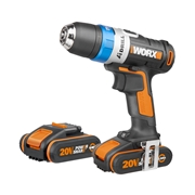 Worx WX1781 20v MAX AI Drill with 2 x 2Ah Batteries, Charger and Case