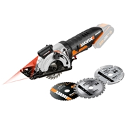 Worx WX523.9 20v MAX Li-ion Laser Guided 85mm Compact Worxsaw - Body