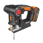 Worx WX550.2 Worx WX550.2 20v MAX 2-in1 Recip / Jigsaw Multipurpose Saw with 1 x 2Ah Battery and Charger
