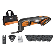 Worx WX682 20v MAX Sonicrafter Multi-Tool with 1 x 2Ah Battery, Charger and Bag