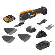 Worx WX696 Worx WX696 20v MAX Sonicrafter Multi Tool with 35 Accessories 1 x 2Ah Battery, Charger and Case