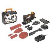 Worx WX820 20V MAX Multi Sander with 1 x 2Ah Battery and Charger