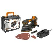 Worx WX822 20V MAX Detail Sander with 1 x 2Ah Battery and Charger