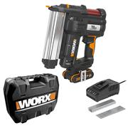 Worx WX840 Worx WX840 20V MAX Second Fix Finishing Nail Gun/Staple Gun with 1x 2Ah Battery, Charger & Case