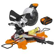Worx WX845 20V MAX 216mm Sliding Mitre Saw with 1 x 4Ah Battery