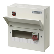 Wylex NM806L Wylex 8 Way Metal Consumer Unit with 100A Main Switch