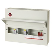 Wylex NMRS10SSLMHI Wylex 10 Way Flexible High Integrity Dual RCD Metal Consumer Unit