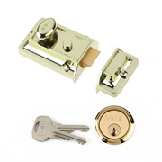 Yale B-77-BLX-PB-60 Yale 77 Traditional Nightlatch 60mm - Brasslux