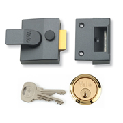 Yale B-85-DMG-PB-40 Yale 85 Deadlocking Nightlatch 40mm - Dark Metal Grey