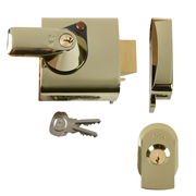Yale B-BS1-BLX-PB-60 BS1 Max Security Nightlatch 60mm - Brasslux