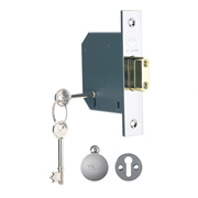 Yale B-M552-CH-78 Yale M552 5 Lever Deadlock 3'' - Polished Chrome