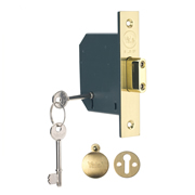 Yale B-M552-PB-78 Yale M552 5 Lever Deadlock 3'' - Polished Brass