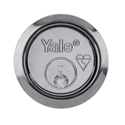 Yale B-X5-CH Yale X5 Kitemarked Replacement Rim Cylinder 2 Keys - Chrome