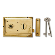 Yale P-334-PB Yale Rim Sashlock - Polished Brass