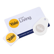 Yale P-YD-01-CON-RFIDM Yale Keyless Connected Key Card Key Tag & Phone Tag Pack