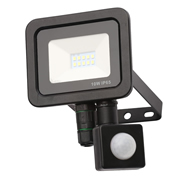 Zinc ZN-31297-BLK Rye 10w Slimline LED Floodlight With PIR - Black
