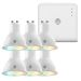 Hive UK7002505 Hive Active Light Cool to Warm White GU10 x 6 with Hub