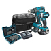 Makita DLX2173KIT 18v LXT Brushless 2 Piece Kit with 2 x 4Ah Batteries, Charger, Case and Bit Set