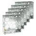 BG Metal Knockout Box 1 Gang 25mm Galvanised Pressed Steel - Pack of 5