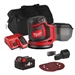 Milwaukee M18BOS125ITS 18v M18 125mm Random Orbit Sander with 1 x 4Ah Battery, Charger and Bag