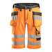Snickers 30335574 Hi-Vis Holster Pocket Shorts, Class 1, Orange