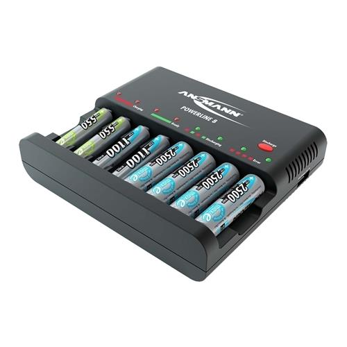 Ansmann Powerline 8 UK NiMH battery charger