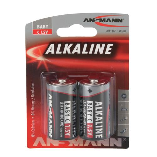 Ansmann 1513-0000 C Redline Alkaline 1.5v batteries Pack of 2