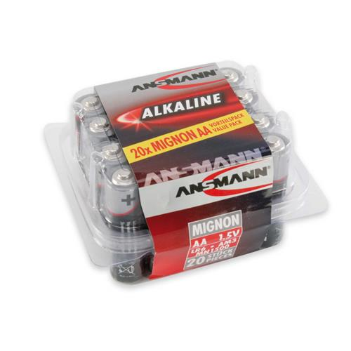 Ansmann 5015548 AA Redline Alkaline 1.5v batteries Tub of 20