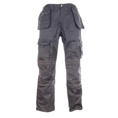Work Trousers with Holster Pockets - Black