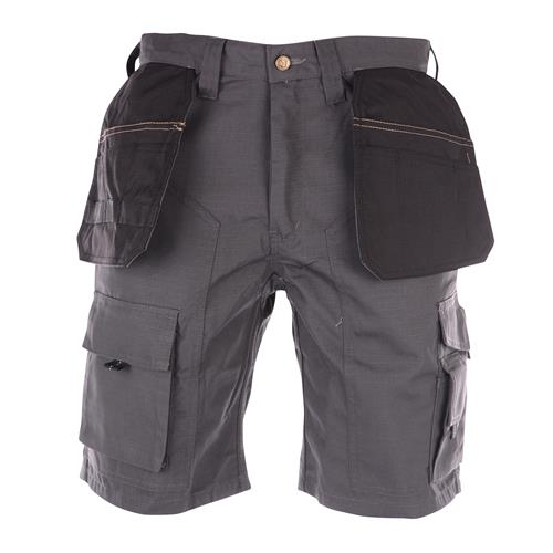 Apache Lightweight Ripstop Shorts Grey/Black