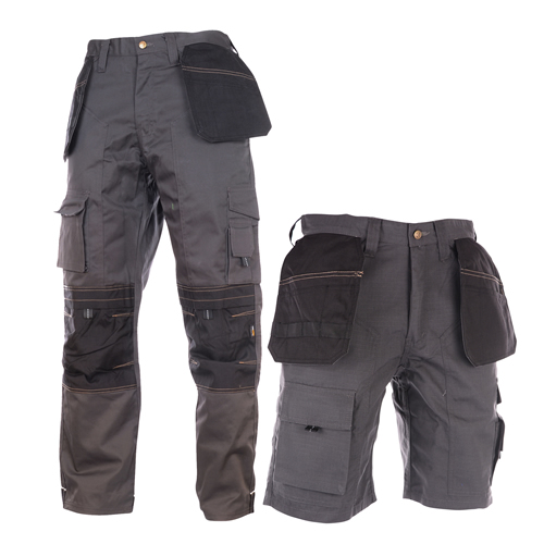 Shorts & Work Trousers Set - Black/Grey