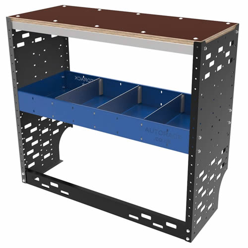 Autorack HD-WB-WA-BLU Autorack HD-WB-WA-BLU Heavy Duty Van Racking System Workbench