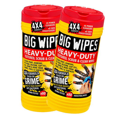 Big Wipes 2420PK2 Big Wipes Heavy Duty Wipes (80 Wipes) Twin Pack