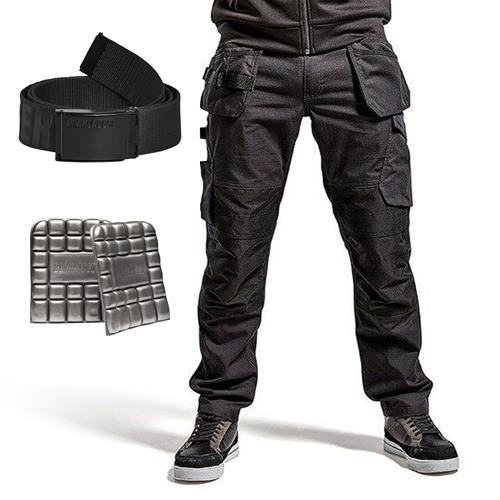 Service Trouser with Stretch and Nail pockets Kit  - Black/Dark Grey