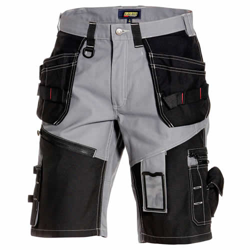 Blaklader Craftsmen X1500 Shorts - Grey / Black