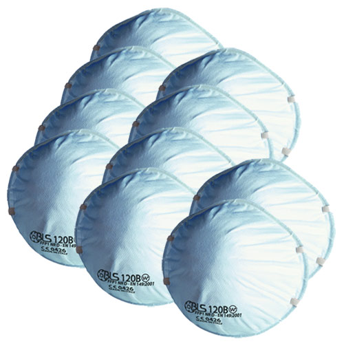 BLS 120 BLS Disposable Cup Mask FFP1 (Pack of 10)