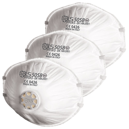 BLS 505 BLS Disposable Respirator FFP3 (Pack of 3)