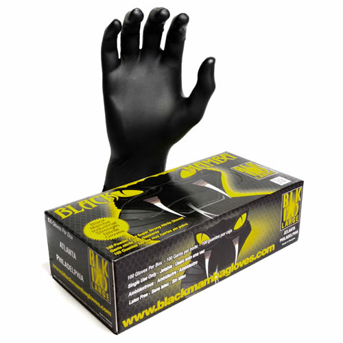 Black Mamba BXBMGL Black Mamba Nitrile Disposable Gloves (Box 100) Large