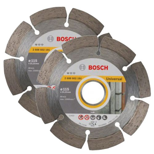 Bosch 06159975S9 115mm LPP Diamond Blade Twinpack
