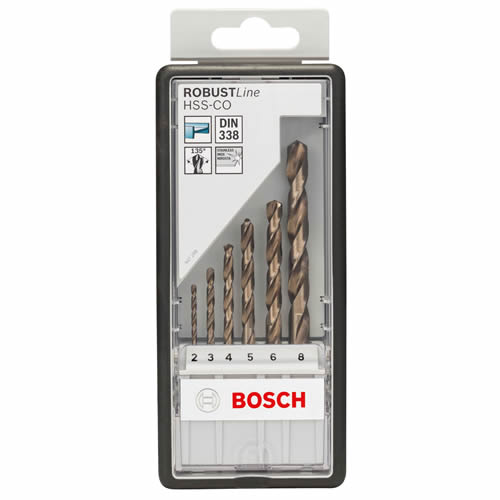 Bosch 2607019924 Bosch 6 Piece Robust Line HSS-CO Metal Drill Bit Set